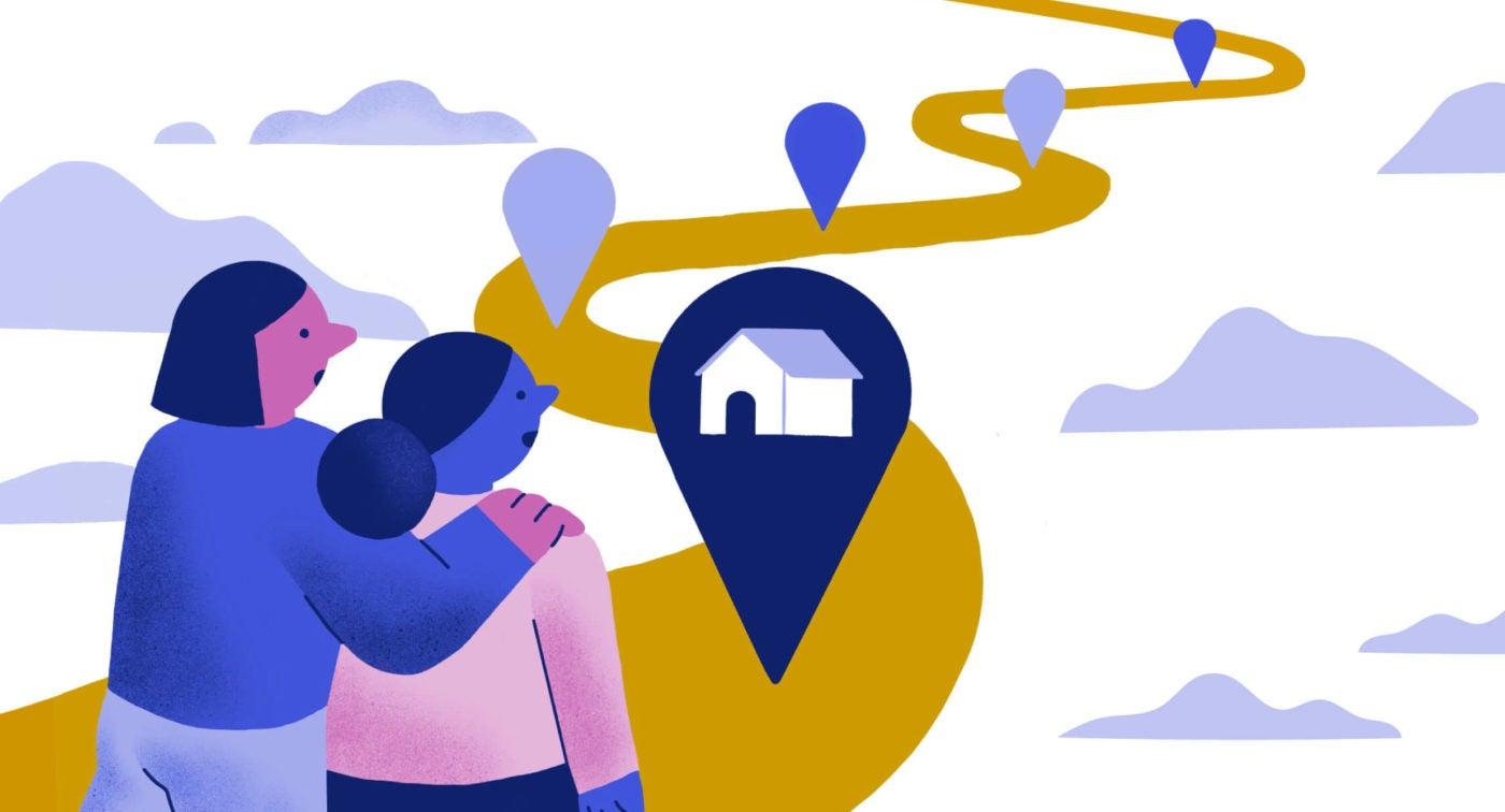 Illustration of the homebuying journey