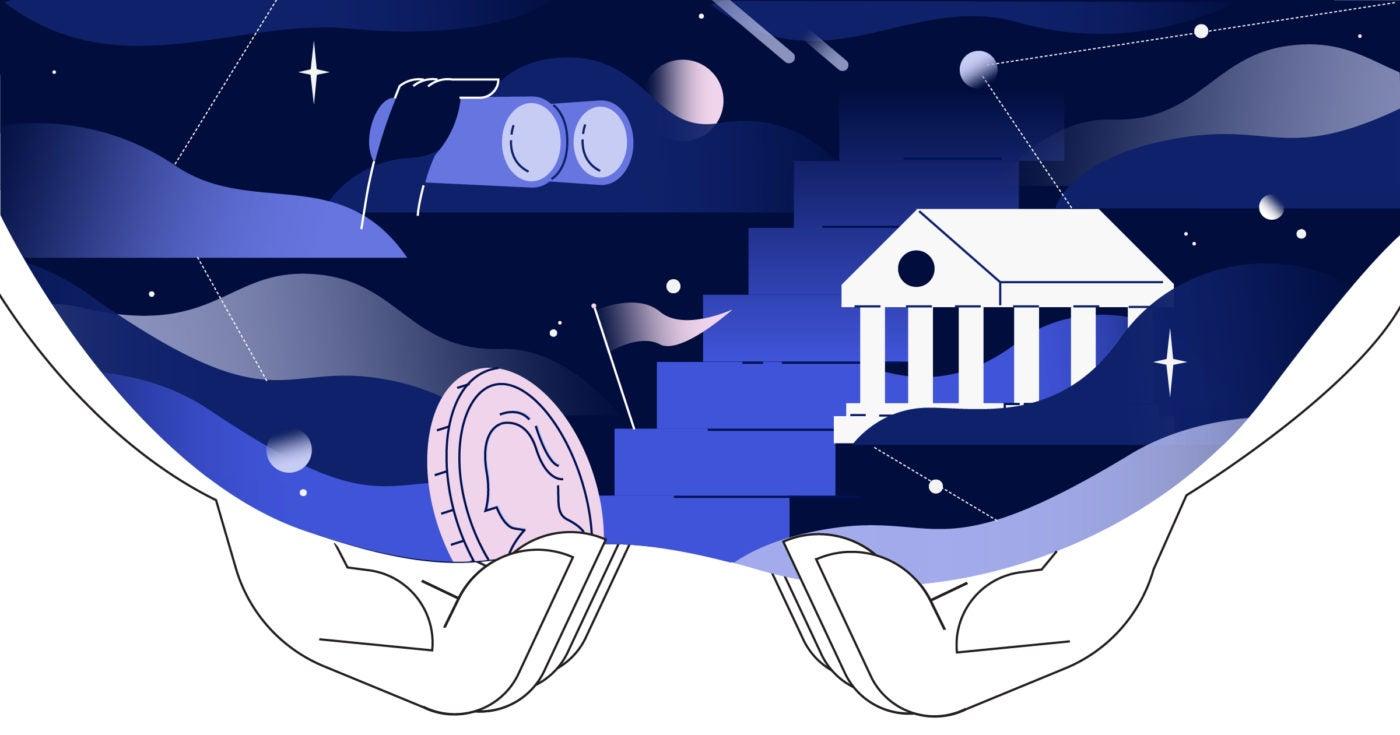 Illustration of the lending universe