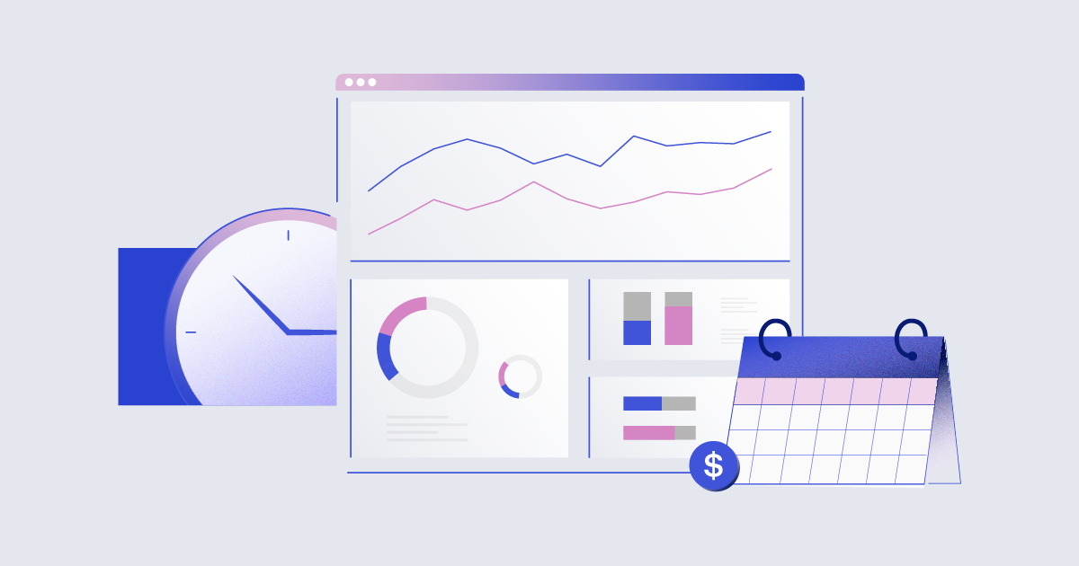 Illustration of generic ROI charts and graphs